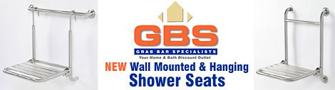 GBS Wall Mounted Shower Seats