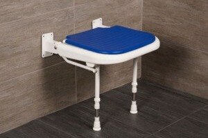 "AKW 18"" Folding Padded Shower Seats with Adjustable Legs"