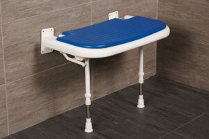 "AKW 26"" Folding Padded Extra Wide Shower Seats with Adjustable Legs"