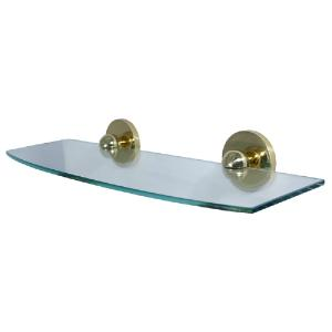 ALLIED BRASS - Skyline Collection Single Glass Shelf - 18 inch