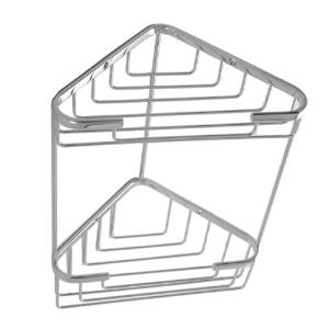 ALLIED BRASS - Double Corner Shower Basket - Dimensions: 9-5/8 inch Long x 5-3/4 inch Wide x 12-1/16 inch High
