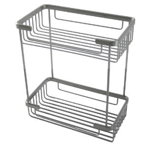 ALLIED BRASS - Rectangular Double Shower Basket - Dimensions: 10-1/4 inch Long x 5-7/8 inch Wide x 11-1/2 inch High