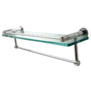 ALLIED BRASS - Fresno shelf with gallery rail and towel bar - 3/8 inch thick tempered glass - 16 inch