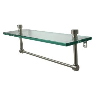 ALLIED BRASS - Foxtrot glass shelf with integrated towel bar - 3/8 inch thick tempered glass - 16 inch