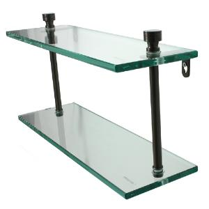 ALLIED BRASS - Foxtrot Double Glass Shelf - 3/8 inch thick tempered glass - 16 inch