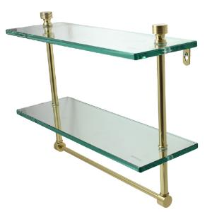 ALLIED BRASS - Foxtrot Double Glass Shelf - 3/8 inch thick tempered glass - 22 inch