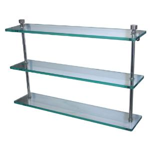 ALLIED BRASS - Foxtrot Triple Glass Shelf - 3/8 inch thick tempered glass - 16 inch