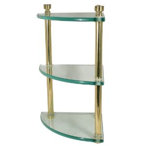 ALLIED BRASS - Foxtrot triple corner glass shelf - 3/8 inch Thick tempered glass