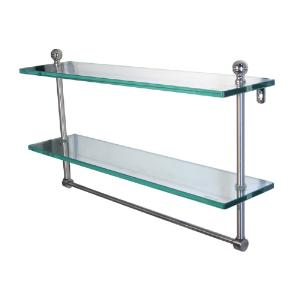 ALLIED BRASS - Mambo Collection Double Glass shelf - 3/8 inch thick tempered glass - 16 inch