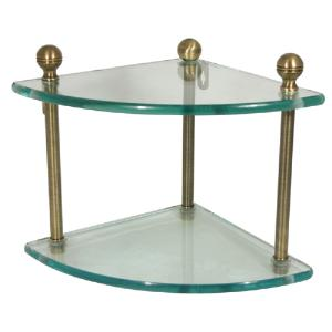 ALLIED BRASS - Mambo collection double corner glass shelf - 3/8 inch thick tempered glass