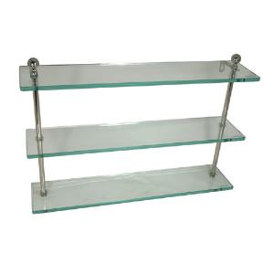 ALLIED BRASS - Astor Place - Double Glass Shelf - 3/8 inch thick tempered glass - 16 inch