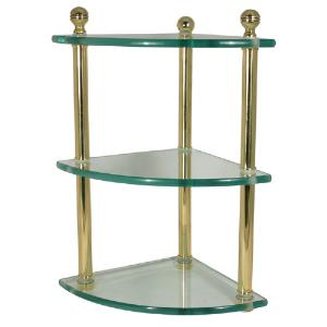 ALLIED BRASS - Mambo collection triple corner glass shelf - 3/8 inch thick tempered glass