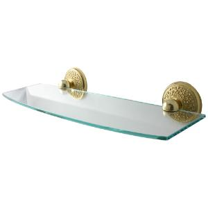 ALLIED BRASS - Monte Carlo Glass Shelf - Dimensions: 18 inch x 5 inch