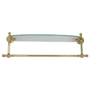 ALLIED BRASS - Retro-Wave collection Single Glass Shelf with integrated Towel Ba - 18 inch