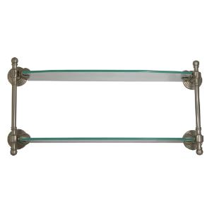 ALLIED BRASS - Retro-Wave Collection Double Glass Shelf - 18 inch
