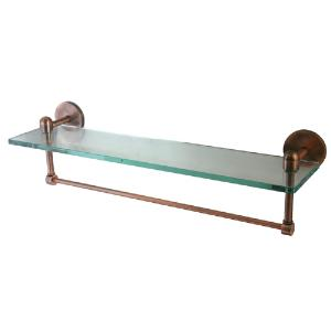 ALLIED BRASS - Tango Collection Glass shelf with integrated towel bar - 3/8 inch thick tempered glass - 16 inch