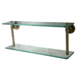 ALLIED BRASS - Washington Square Collection Double Glass Shelf - 3/8 inch Thick tempered Glass - 16 inch