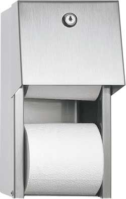 Surface Mounted Dual Roll Toilet Paper Dispenser