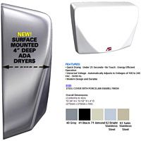 ASI Profile Surface Mounted Automatic Compact Hand Dryer 100-240 Volt