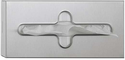 ASI Surface Mounted Facial Tissue Dispenser with Satin Finish