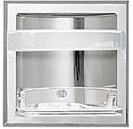 Recessed Soap Dish with Bar  - Recessed -  CHROME