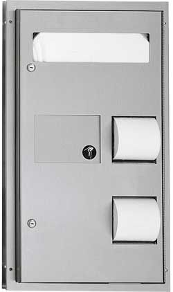 Dual Access Seat Cover and Toilet Paper Dispenser with Sanitary Disposal