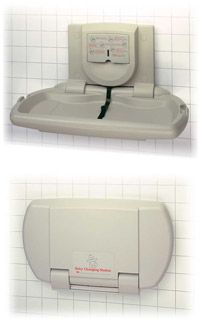 ASI Surface Mounted Horizontal Plastic Baby Changing Station