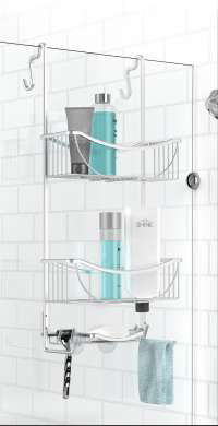 Better Living Venus 3-Tier Over The Door Aluminum Shower Caddy