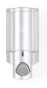Better Living Aviva Single Chamber Satin Silver Liquid Soap Dispenser