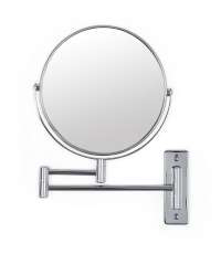 "Better Living Cosmo 8"" Chrome Mirror with Wall Mount 5 x Magnify"