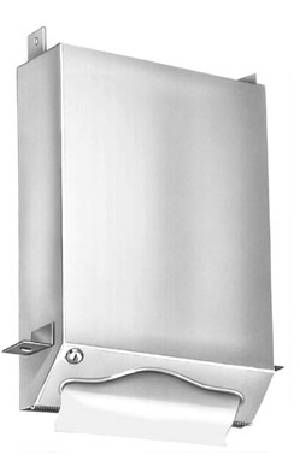 Bradley Recessed Towel Dispenser For Behind Wall or Mirror