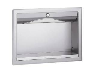 "Bradley Recessed Towel Dispenser For 1⁄2"" Thick Drywall Installations Behind Wall or Mirror"