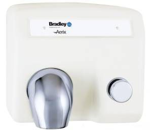 Bradley 2904 Series Surface Mounted Aerix Push Button Operated Hand Dryer
