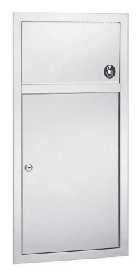 Bradley 3251 Standard Series 2.8 Gallon Waste Receptacle with Optional Push Flap Door