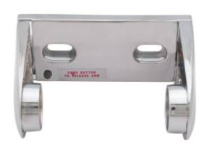 Bradley Bradex Surface Mounted Single Roll Toilet Tissue Holder with Chrome Plated Finish and Controlled Delivery
