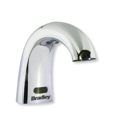 Bradley 6315 Series Lavatory Mounted Chrome Plated Sensor Operated Soap Dispenser
