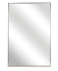 FIXED TILT MIRROR- 16 X 24    SS FRAME- SATIN FINISH