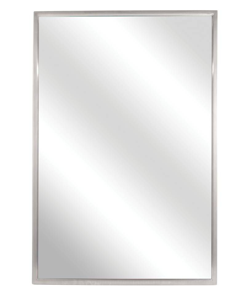 FIXED TILT MIRROR- 18 X 24    SS FRAME- SATIN FINISH