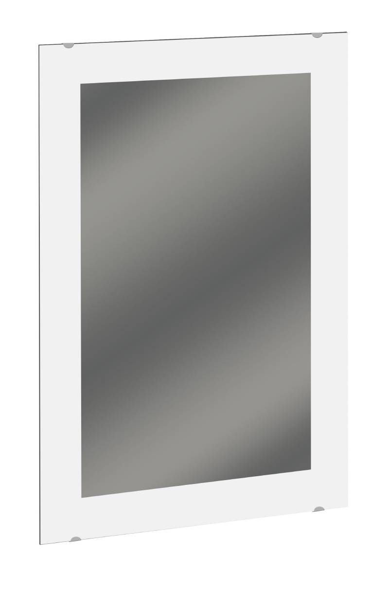 Bradley 747F Series Frameless Frosted Mirror with Etched Border and Clip Fasteners