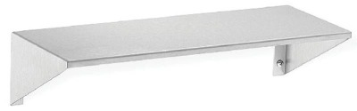 "Bradley Series 758 8"" Deep Surface Mounted Stainless Steel Shelf"
