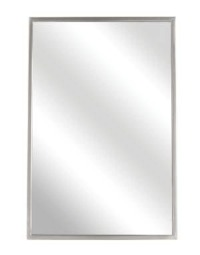 ANGLE FRAME MIRROR- 60 X 36   SS FRAME- SATIN FINISH