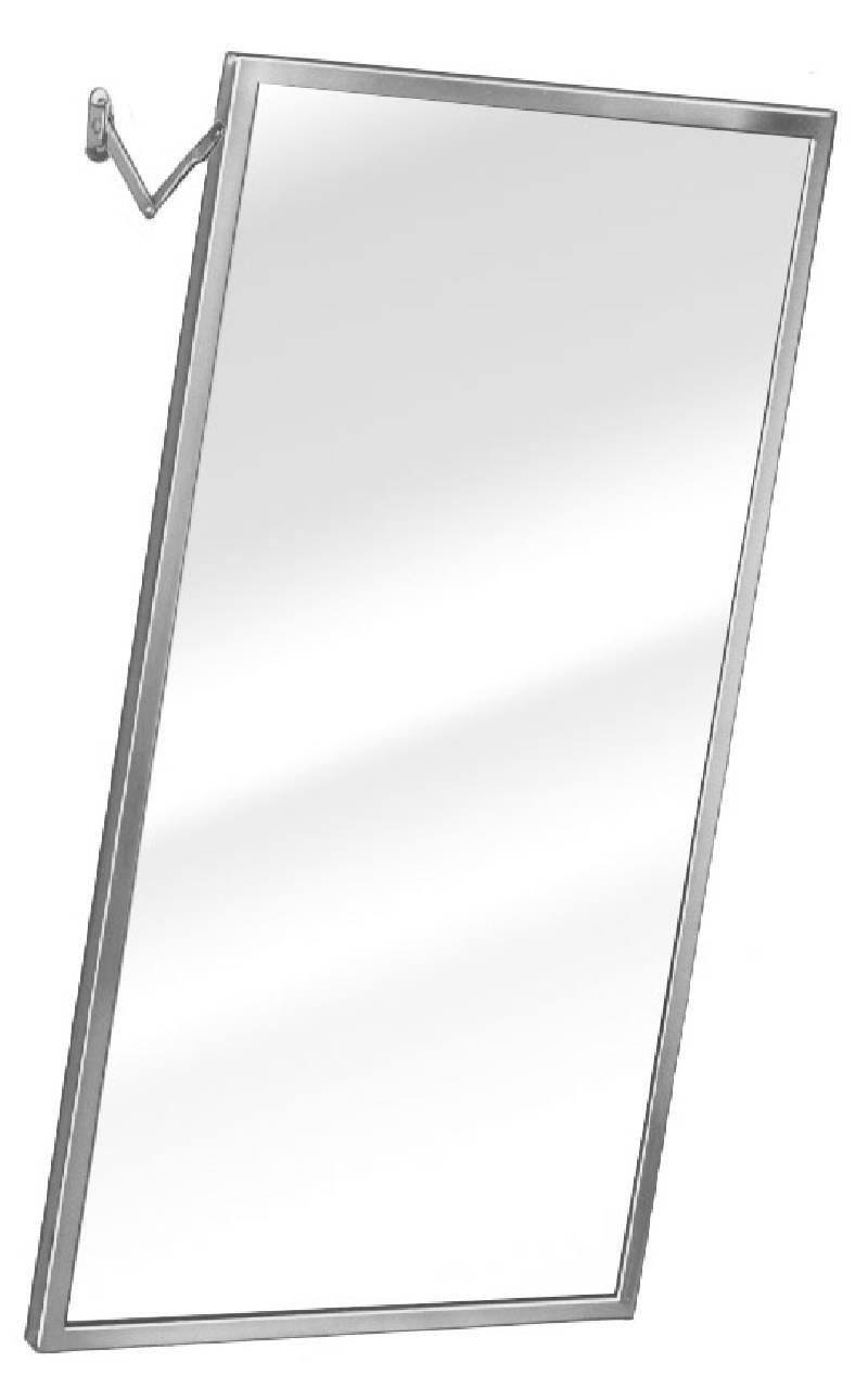 ADJUSTABLE TILT MIRROR 24 X 36 SS FRAME SATIN FINISH