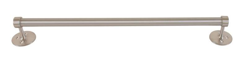 "Bradley 908 Series Heavy Duty 1"" Round Towel Bar with Chrome Plated Satin Finish"