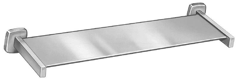"Bradley 9094 Series 6-1/4"" Stainless Steel Shelf with Satin Finish"