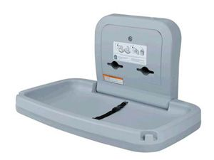 BRADLEY SURFACE MOUNTED BABY CHANGING STATION - LIGHT GREY