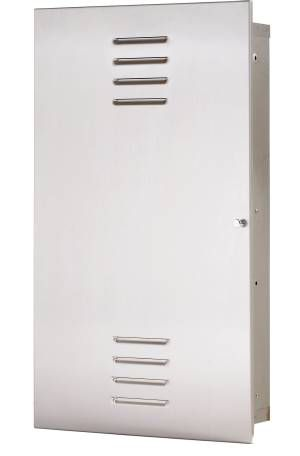 BEDPAN STORAGE CABINET-   SURFACE MOUNT- SATIN SS