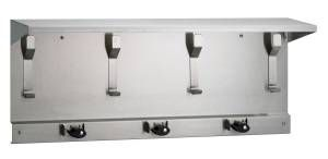 Bradley 993 Series Utility Shelves with Mop & Broom Holders