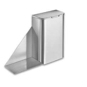 Bradley Surface Mounted Sanitary Napkin Disposal with Shelf
