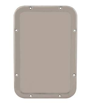 "Bradley Front Mounted 11-1/4"" x 17-1/4"" Security Mirror with 304 Stainless Steel Mirror"