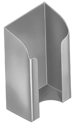 Bradley Front Mounted Security Folded Toilet Tissue Holder
